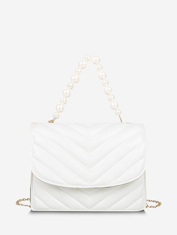 Best Zigzag-Quilted Faux Pearl Crossbody Bag