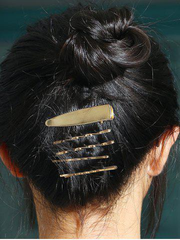 5 Pcs Alloy Twisted Hair Pins - GOLDEN