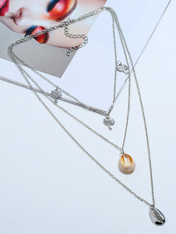 Outfit Palm Trees Conch Layered Pendant Necklace