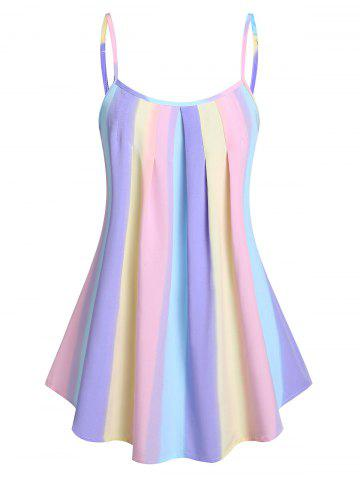 Pleated Gradient Color Cami Tank Top