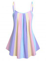 Pleated Gradient Color Cami Tank Top -