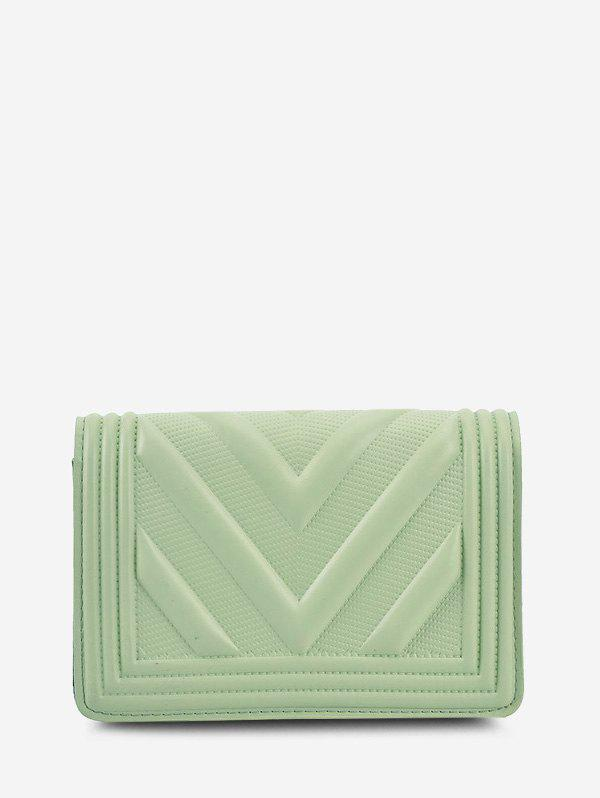 Store Chain Zigzag-Quilted Flap Crossbody Bag