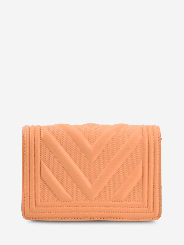 Shop Chain Zigzag-Quilted Flap Crossbody Bag