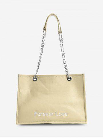 Forever Love Embroidery Tote Bag