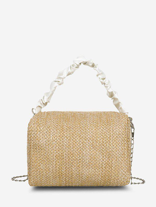 Best Ruched Handle Woven Crossbody Bag
