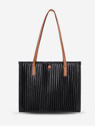 Thin Strap Pleated Tote Bag -
