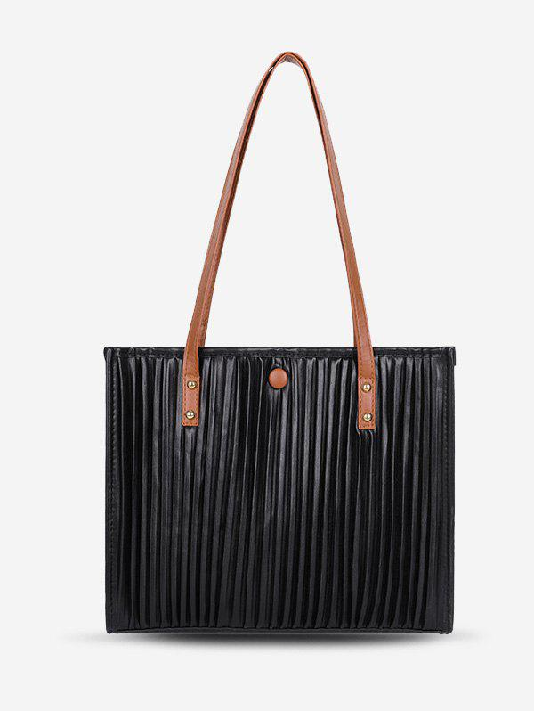 Chic Thin Strap Pleated Tote Bag