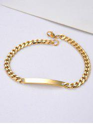 Stainless Steel Curved Bar Chain ID Bracelet -