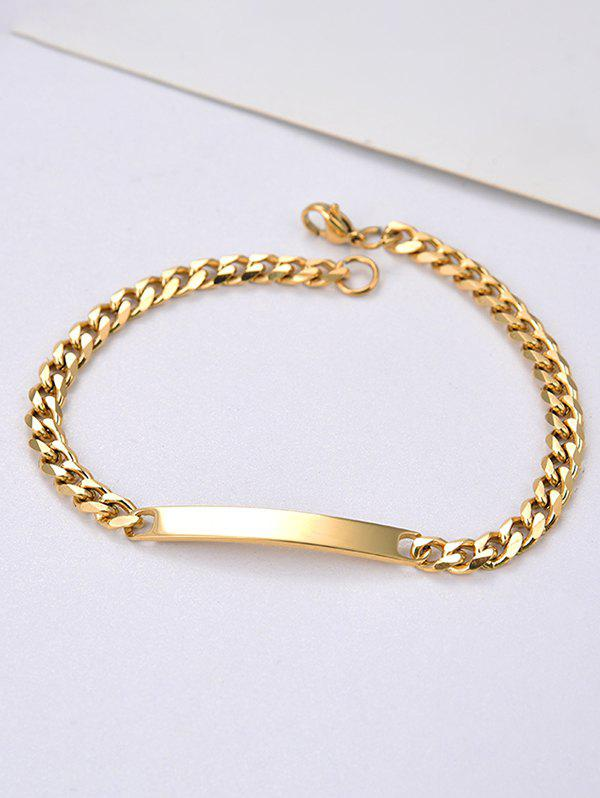Unique Stainless Steel Curved Bar Chain ID Bracelet