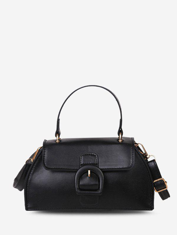 Outfit Buckle Detail Faux Leather Crossbody Bag