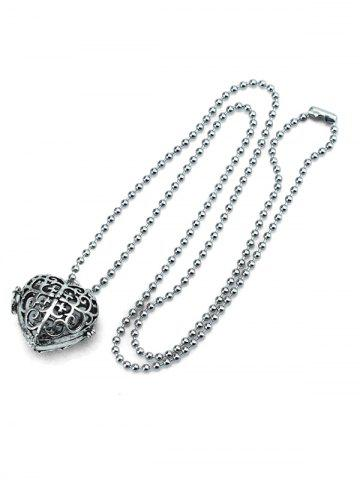 Retro Hollow Out Heart Shape Locket Necklace