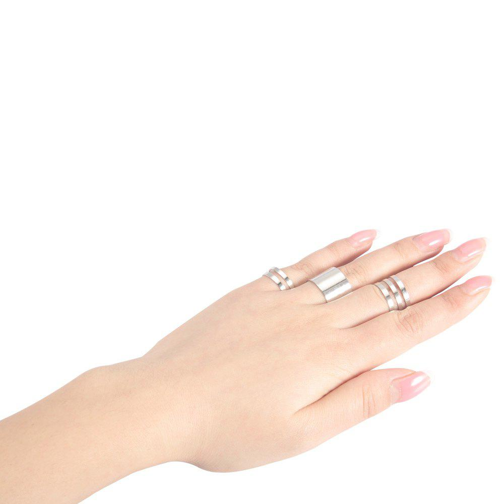 Shops 3pcs Round Open Alloy Rings for Women