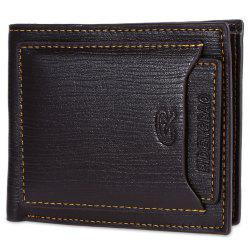 Fashionable Male Transverse Wallet with Crad Layer Leather Bifold Purse -