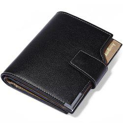 Baellerry Three-folded Male Vertical Wallet Multifunctional Leather Credit Card Bifold Purse -