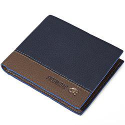 Creative Male Transverse Wallet Soft Leather Credit Card Bifold Purse -