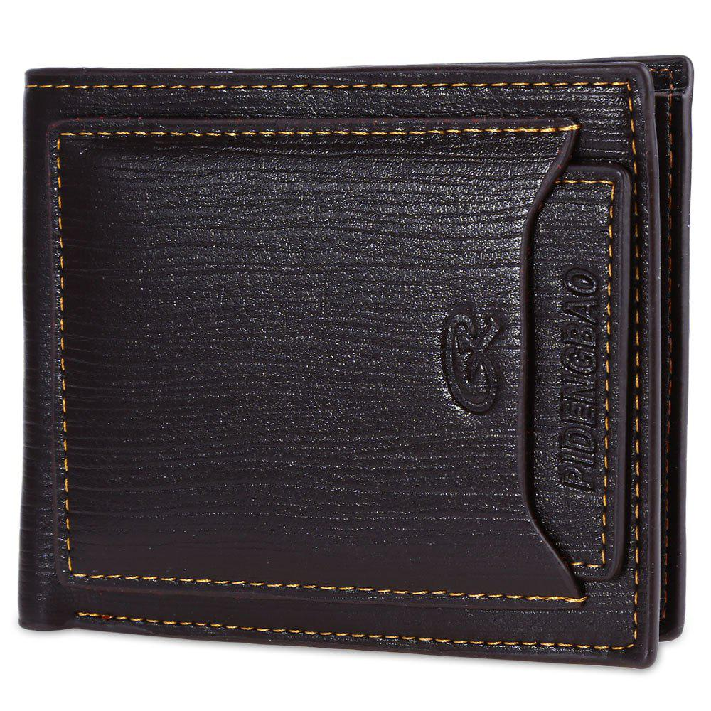 Shops Fashionable Male Transverse Wallet with Crad Layer Leather Bifold Purse