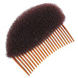 Ladies Hair Styling Comb Volume Bouffant Beehive Shaper Roller Foam Accessories - BROWN