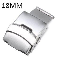18MM Stainless Steel Fold Over Clasp with Push Button -