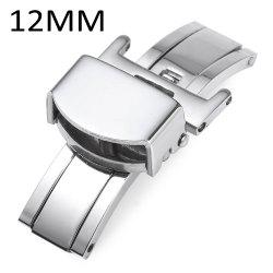 12MM Stainless Steel Deployment Butterfly Clasp Watch Buckle -