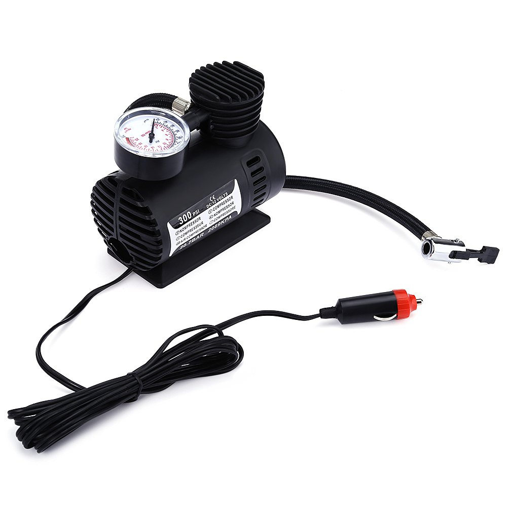 New 12V Electric Car Inflatable Mini Tire Pump Air Compressor with Tyre Pressure Monitor