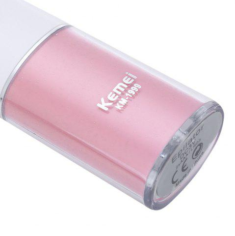 Fashion Lady Epilator Electric Hair Removal Female Body Face Depilatory Personal Care Machine Battery Power - PINK  Mobile