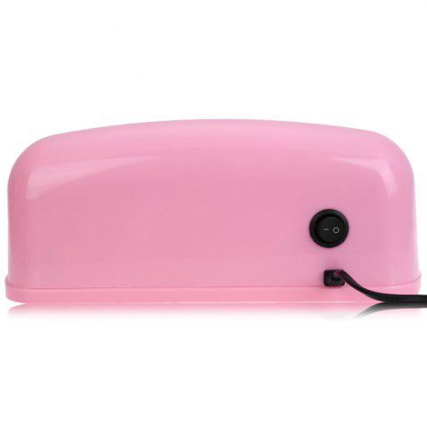 Unique 9W High Automatic Light Phototherapy Slide Type LED + UV Manicure Nail Art Power Lamp - EU PLUG PINK Mobile