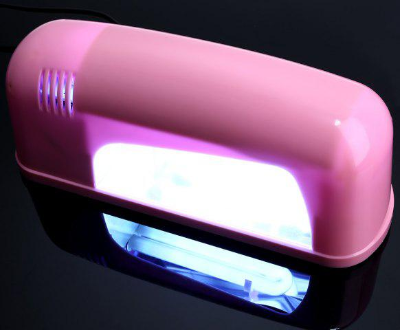 Buy 9W High Automatic Light Phototherapy Slide Type LED + UV Manicure Nail Art Power Lamp - EU PLUG PINK Mobile
