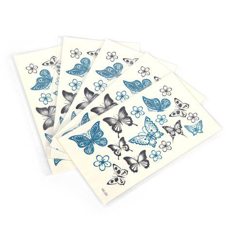 Shops 5pcs Temporary Tattoo Water Stickers Flower Cats English Metal Pattern Body Art