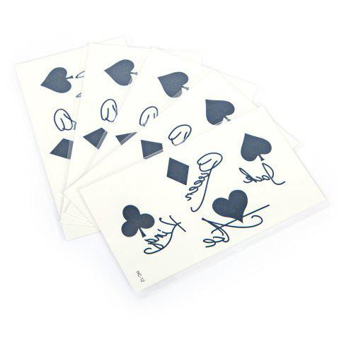 Outfits 5pcs Temporary Tattoo Water Stickers Flower Cats English Metal Pattern Body Art