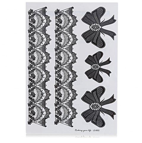 Affordable Black Tattoo Sticker Temporary Flower Lace Metal Pattern Body Art