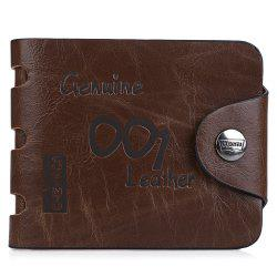 Men Number Letter Embellishment Hollow Out Hasp Horizontal Wallet -
