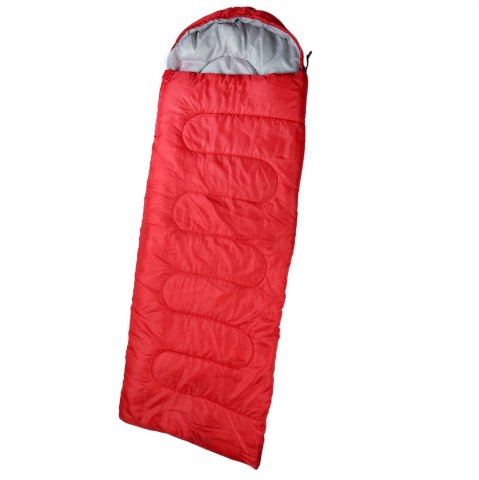 Fancy Outdoor Camping Envelope Style Hooded Thin Hollow Cotton Sleeping Bag - RED  Mobile