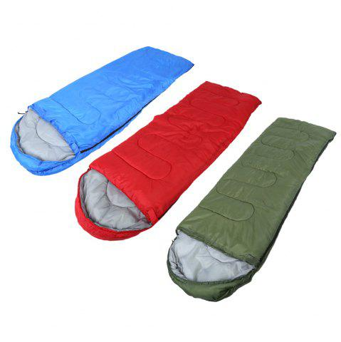 Hot Outdoor Camping Envelope Style Hooded Thin Hollow Cotton Sleeping Bag - RED  Mobile