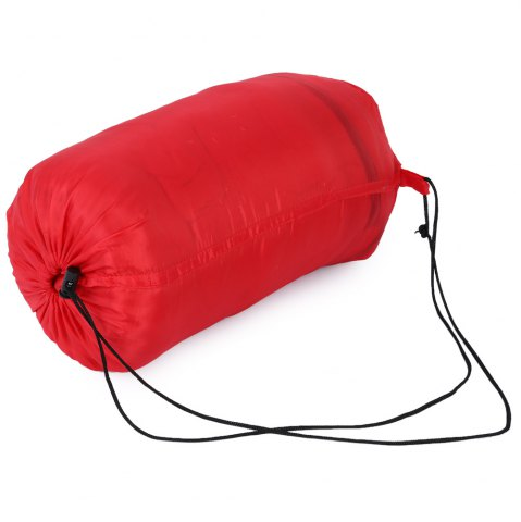 Buy Outdoor Camping Envelope Style Hooded Thin Hollow Cotton Sleeping Bag - RED  Mobile