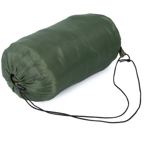 Latest Outdoor Camping Envelope Style Hooded Thin Hollow Cotton Sleeping Bag - ARMY GREEN  Mobile
