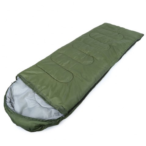 Fancy Outdoor Camping Envelope Style Hooded Thin Hollow Cotton Sleeping Bag - ARMY GREEN  Mobile