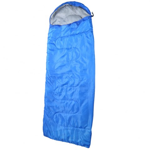 Buy Outdoor Camping Envelope Style Hooded Thin Hollow Cotton Sleeping Bag - SAPPHIRE BLUE  Mobile