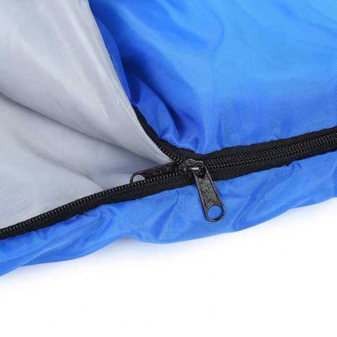 Affordable Outdoor Camping Envelope Style Hooded Thin Hollow Cotton Sleeping Bag - SAPPHIRE BLUE  Mobile