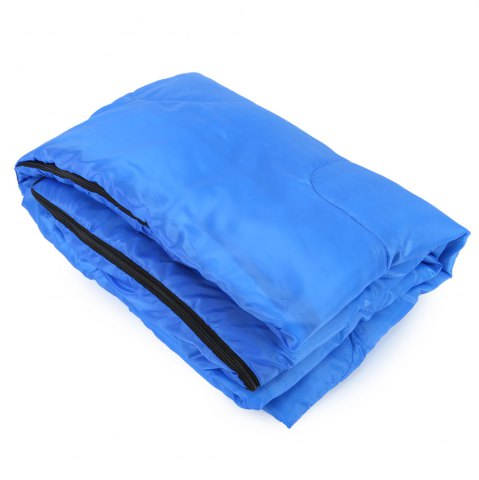Store Outdoor Camping Envelope Style Hooded Thin Hollow Cotton Sleeping Bag - SAPPHIRE BLUE  Mobile