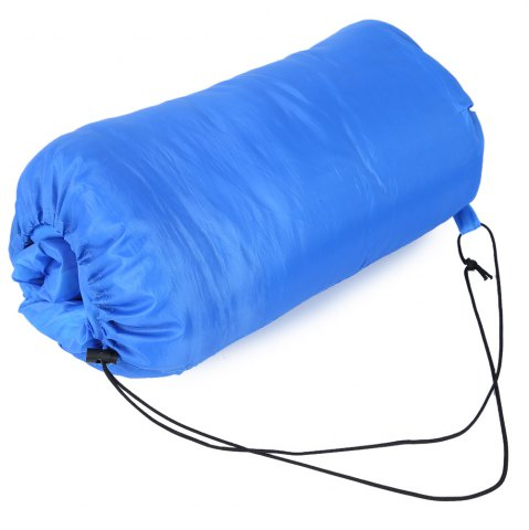 Outfit Outdoor Camping Envelope Style Hooded Thin Hollow Cotton Sleeping Bag - SAPPHIRE BLUE  Mobile