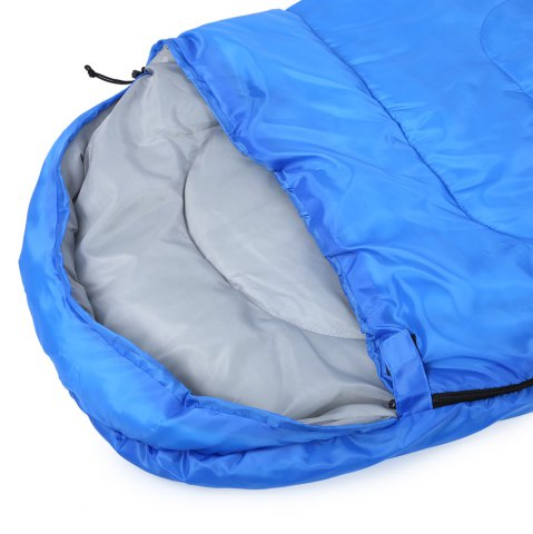Online Outdoor Camping Envelope Style Hooded Thin Hollow Cotton Sleeping Bag - SAPPHIRE BLUE  Mobile
