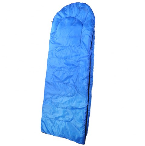Hot Outdoor Camping Envelope Style Hooded Thin Hollow Cotton Sleeping Bag - SAPPHIRE BLUE  Mobile