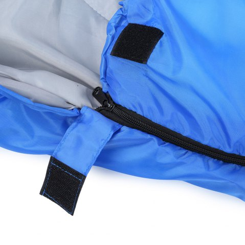 Latest Outdoor Camping Envelope Style Hooded Thin Hollow Cotton Sleeping Bag - SAPPHIRE BLUE  Mobile
