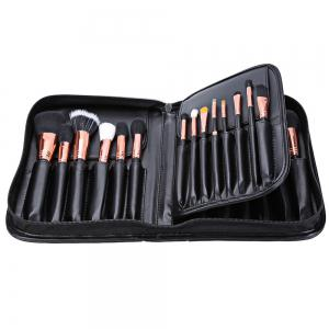 29pcs Animal Hair Professional Cosmetic Makeup Brushes Tool Set with Black Leather Cosmetic Case -