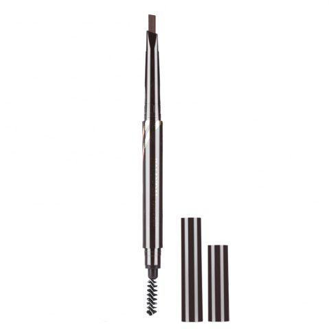 Outfit Double Head Rotary Automatic Pencil Waterproof Long Lasting Makeup Eyebrow Pen - COFFEE  Mobile