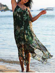 Chiffon Floral Bohemian Swing Slip Beach Dress
