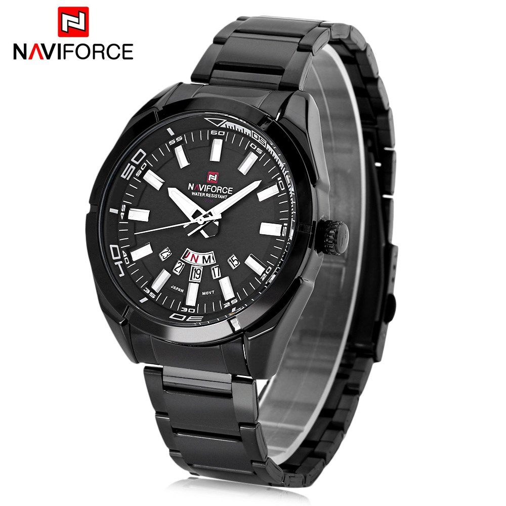 Affordable Naviforce NF9038M Male Quartz Watch Date Day Display 3ATM Wristwatch