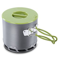 DS - 202 1 - 2 Person Outdoor Fast-heating Pot Camping Picnic Cookware - GRAY