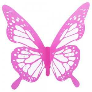 Colorful DIY 3D Butterfly Wall Sticker Mirror Art Decal PVC Paper for Home Showcase - 12Pcs -