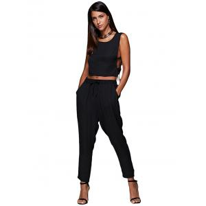 Tie Side Crop Top and Jogger Pants